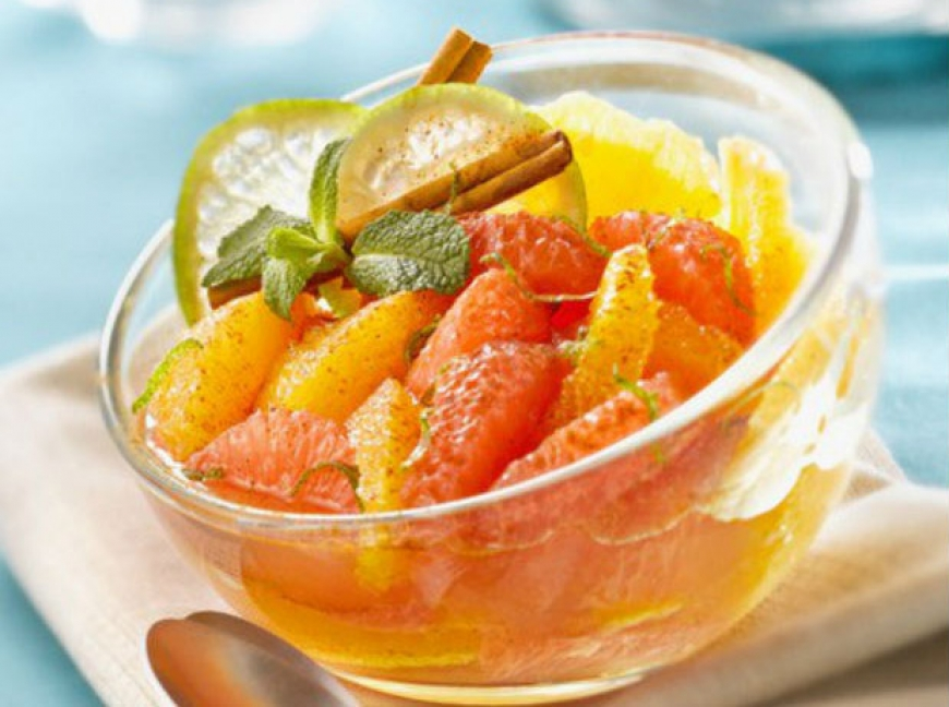Champs Elysees spiced citrus fruit salad