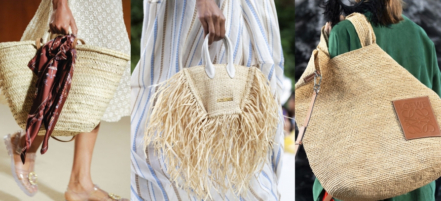 This summer, Parisian chic is to complete its look with straw accessories...