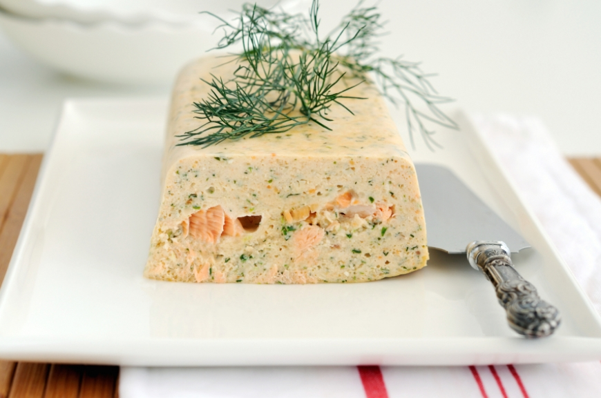 My mom' christmas trout mousse...