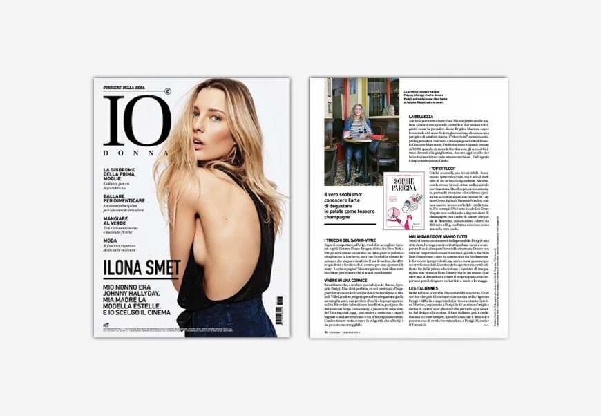 THE FRENCH CHIC? IT IS AN ALCHEMY… INTERVIEW OF THE AUTHOR NATHALIE PEIGNEY BY VIRGINIA RICCI FOR THE ITALIAN MAGAZINE IO DONNA.