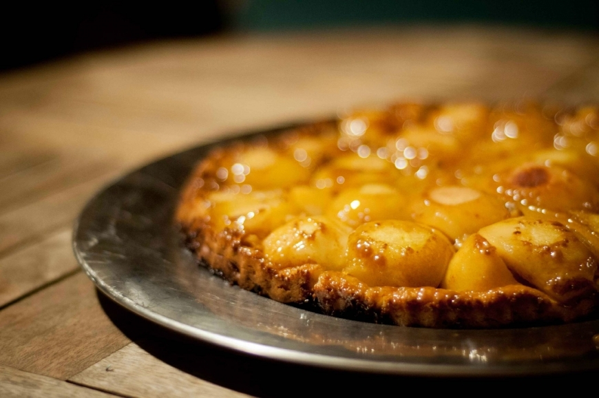 Pears tatin's, the tart of the two unmarried sisters...